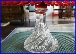 Rare Fostoria 1930's Amberina Diamond Swirl Pedestal Cake Stand