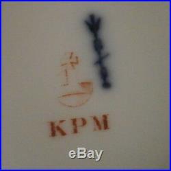 Rare KPM Berlin Neuzierat Porcelain Pedestal Cake Plate Dish Porzellan Tazza