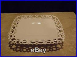 Rare Milk Glass Westmoreland Doric Rectangular Pedestal Cake Plate