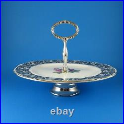 Rare Royal Albert Senorita Pedestal 1 Tier Cake Plate