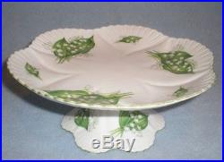 Rare Shelley Lily Of The Valley Tidbit Pedestal Cake Plate Stand # 13822