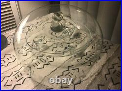 Rare Vintage Princess House 2 Piece Heritage Pedestal Domed Cake Plate