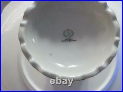 Reichenbach German China 10 1/4 Pedestal Cake Plate Stand Gold Floral & Trim