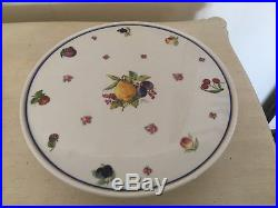 Richard Ginori Large Pedestal Cake Plate Italian Frute Pattern (12 1/2 in diam.)