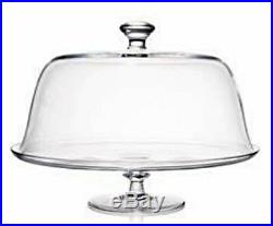 Rogaska Crystal Cake Plate Pedestal Covered New In The Box 35cm