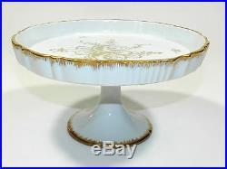 Rose Footed Pedestal Cake Plate Porcelain Wedding Plates