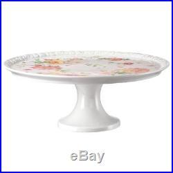 Rosenthal Maria-407165 12819 Pink Rose Cake Plate on Pedestal, 31.5 cm