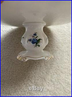 Royal Albert Forget Me Not Pedestal Cake Plate 9 Wide