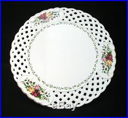 Royal Albert OLD COUNTRY ROSES Pedestal Cake Plate NWT
