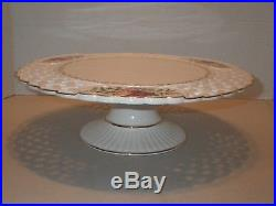 Royal Albert Old Country Roses OCR Lace Footed Pedestal Cake Dessert Plate