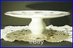 Royal Albert Petit Point Footed Cake Stand Pedestal Plate Mint