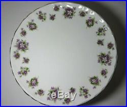 Royal Albert Raised Pedestal Cake Plate Sweet Violets Vintage England Bone China