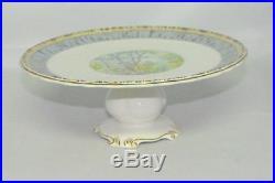 Royal Albert Silver Birch Pedestal Cake Plate