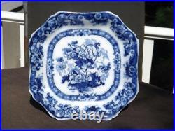 Royal Cauldon Flow Blue Bentick Cake Stand Pedestal Plate England EXC