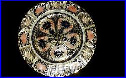 Royal Crown Derby- Old Imari 9021/1128 Pedestal Cup, Saucer & Cake Plate-1929