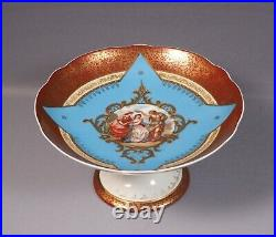 Royal VIENNA Plate Enamel beehive Taza Pedestal Footed Cake Stand Tray
