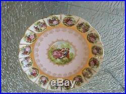 Royal Vienna Beehive Fragonard Pink Pedestal Cake Plate 55/531 Compote Marked