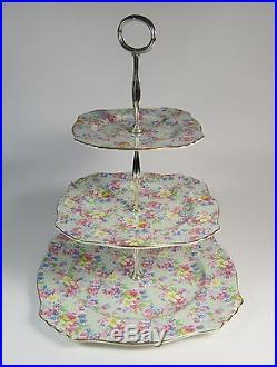Royal Winton Grimwades Marion Three Tier Pedestal Cake Plate