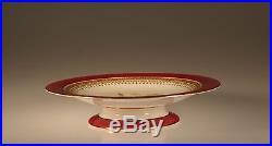 Royal Worcester Handpainted Pedestal Cake Plate, Pattern #9522, England c. 1875