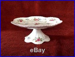 SHELLEY England Rose Pedestal Cake Plate Creamer Sugar Bowl Tray NICE
