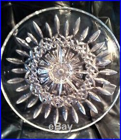 SUPERB LARGE 11 Waterford LISMORE CUT CRYSTAL Pedestal Footed Cake Plate