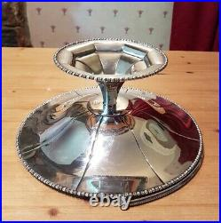 S J Levi & Co Leviathan Large Silver Plated Cake Stand Pedestal Basket 1900-1935