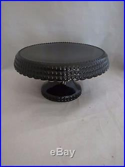 Scarce Halloween Black Hobnail Ceramic Pedestal Cake Stand Plate