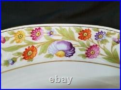 Schumann Arzberg Empress Dresden flowers Pedestal Cake Plate Mint Condition