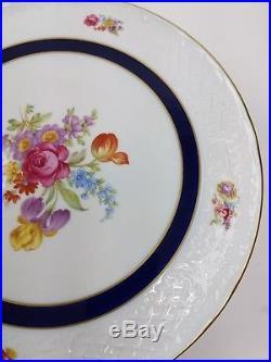 Schumann Bavaria Arzberg Germany Porcelain Floral Cake Pedestal Stand Plate