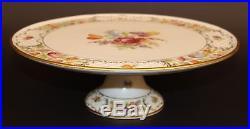 Schumann Dresden Empress Flowers Pedestal Cake Plate/stand