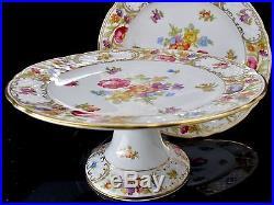 Schumann Empress Arzberg Dresden 2 Cake Pedestal Plate