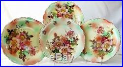 Schumann Wild Roses 12 Serving Plates x 4 = 3 Chargers, 1 Pedestal Cake Stand