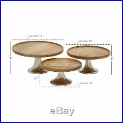 Set of 3 Modern 10, 12 and 14 Inch Pedestal Cake Plates by Studio 350