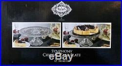 Shannon By Godinger Symphony Clear Crystal Cake Plate Pedestal 12 In New In Box