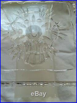 Shannon Lead Crystal Freedom Collection 8 Heavy Square Pedestal Cake Plate