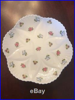 Shelley Bone China Rose Pansy Forget-me-not Scalloped Pedestal Cake Stand Plate