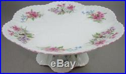 Shelley Dainty Stocks Pedestal Cake Stand / Footed Cake Plate