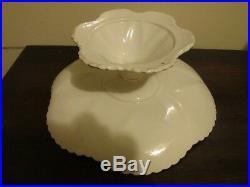 Shelley England Dainty Regency White Footed Cake Plate Pedestal Platter