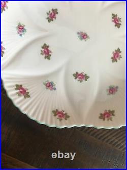 Shelley Rosebud Dainty Pedestal Cake Plate Raised Serving Platter