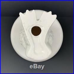 Snowy White Owl Figurine Cake Stand Dessert Appetizer Plate Display Decor 11.5