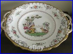 Spode Copeland`s Chelsea England Pedestal Compote Cake Plate Stand Birds Flowers