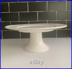 Sur La Table Pearl White Rustic Cake Stand 13 Serving Pedestal Plate Portugal