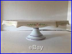 The Lenox Village Pedestal Cake Plate Stand Rare Hard To Find