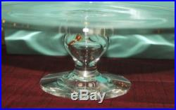 Tiffany & Co 10.25 Crystal Pedestal Fotted Cake Stand Plate with Box New
