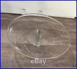 Tiffany & Co Crystal GLASS Pedestal Round CAKE STAND PLATE dish MESA