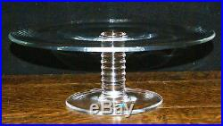 Tiffany & Co Crystal Glass Pedestal Cake Plate Platter MESA Pattern New in Box