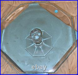 Tiffany & Co. Crystal Windham Pedestal Cake Stand Plate Octagonal Germany