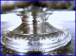 Tiffany & Co. Vintage Sterling Pedestal Cake Plate 19279a, H Monogram