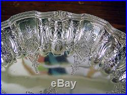 Tiffany & Co. Vintage Sterling Pedestal Cake Plate 19279a, H Monogram