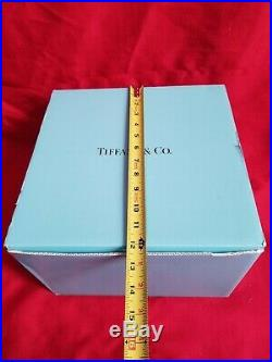 Tiffany & Co Windham Crystal Pedestal Octagonal Cake Plate comes in box